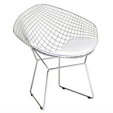Fine Mod Imports Wire Diamond Chair, White FMI1157-WHITE dining chair NEW