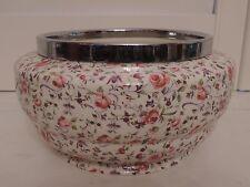 Vintage Crown Clarence Chintz Rose Dubarry Briar Chelsea Jardiniere Planter Pot