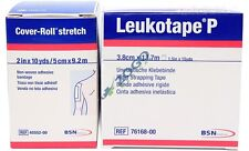"""Leukotape P 1.5"""" x 15 yds & Cover-Roll Stretch 2"""" x 10 yds Pack - One Roll Each"""
