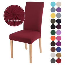 US Stretch Dining Chair Covers Slipcovers Removable Banquet Protective Cover J