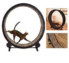Cat Exercise Wheel Toy Play Kitty Running Indoor Treadmill Indoor Treadwheel NEW
