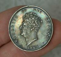 Rare George IV 1825 Original Shilling Coin VF+