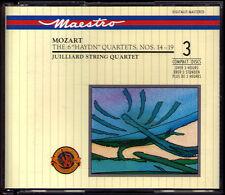 JUILLIARD STRING QUARTET: MOZART 6 Streichquartett No.14-19 HAYDN Minuet CBS 3CD