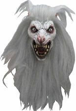 Snow Beast Carnivorous Wolfman DELUXE ADULT LATEX WHITE MOON WEREWOLF MASK
