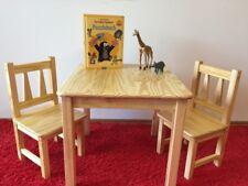 Kindersitzgruppe Kindermöbel 1x Kindertisch 2x Kinderstuhl Massivholz