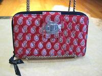 VERA BRADLEY (Petite Red Bandana Paisley) Turnlock Wallet (Orig.$49.00) NWT
