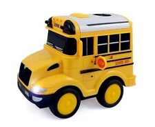 RC School Bus Radio Steering Wheel Remote Control Lights & Sound Kids Toy New