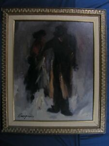 European Oil on Canvas Early 20th century Gypsy With Violinist Signed