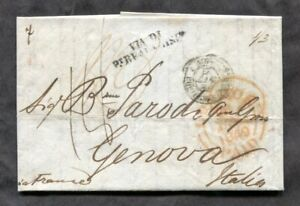 p111 - LONDON 1849 SFL Cover to ITALY