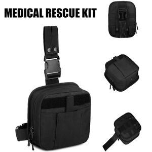 Survival First Aid Kit Medical Emergency Military Trauma Bag Tactical Aid Bag