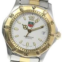 TAG HEUER Professional 2000 Series WK1220 White Dial Quartz Boy's Watch_611347