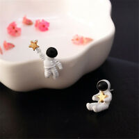 1Pair Creative Funny  Asymmetrical Astronaut Small Stud Earrings For Women Girl