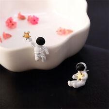 1Pair Creative Funny  Asymmetrical Astronaut Small Stud Earrings For Women Girl