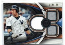 GARY SANCHEZ 2018 TOPPS TRIBUTE TRIPLE 2 COLOR GAME USED JERSEYS#/150