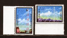 China/Rep.of, SC#1334-5, MNH, (2) stamp 80th Anniv. Telecom. set of 1961/