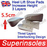 Unisize Adjustable Height Increase Heel Lift Shoe Insert Pads Insoles-3 layers