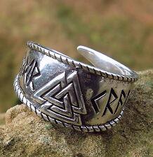 Valknut Ring kl.925Silber  Durchmesser 16-19mm Wikinger Mittelalter Wotansknoten