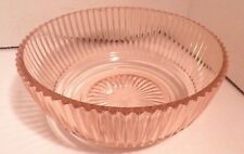 """Pink Queen Mary Depression Glass Lot 3 Bowls 2 berry 1 7"""" DEEP - as is!"""