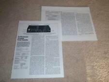 Yamaha C-70 Preamp Review,1982,2 pgs,Full Test