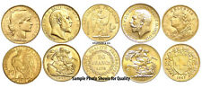 5 BU European Gold bullion coins HELVETIA ANGEL ROOSTER SOVEREIGN Edward George
