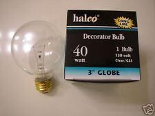 10-lot Halco 40W G25 Clear Long Life Globe Light Bulb