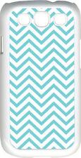 Chevron Aqua Blue Designed Samsung Galaxy S3 Case Cover