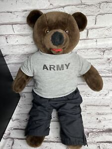Bear Forces Of America Army Bear In Jogging Suit T Shirt Gym Pants