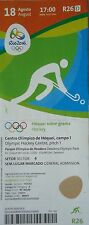 TICKET 18.8.2016 Olympia Hockey Finale Men's Argentinien - Belgien # R26