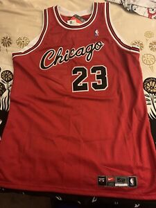 Authentic Nike Michael Jordan Chicago Bulls Rookie Jersey Size 52
