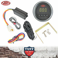 SAAS Turbo Timer Digital Gauge Black Face Dial 52mm Multi Colour + Fitting Kit