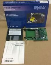 Stock  Lotto Nr  10  Modulo PCMCIA  PCI  Wytek Fast Ethernet 10/100M  Card Nuove