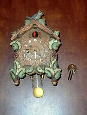 Vintage Small August Keebler Novelty Wind Up Cuckoo Clock Working