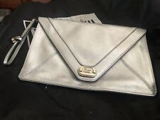 Guess Silver Envelope Clutch New Other Stunning