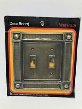 Vintage American Tack & Hardware Switchplate Double Wall Light Switch Modern NOS