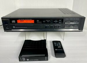 Magnavox CDB-496 CD Player w/6-Disc Cartridge Remote Cables ~ TESTED/WORKING