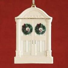 Lenox Ornament in the Shape of a Double Door Entryway w/ Wreaths - New