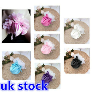 UK Sissy Mens Satin Pouch C-String Lace Compact Bag Drawstring Thong Underwear