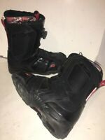 Ride Jackson BOA lacing Black Men's snowboard boots size U.S. 12 30.0 BN