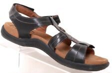 3b134e1e9d Cobb Hill by New Balance Revsoothe Black Leather T-Strap Sandal Women's US  6M