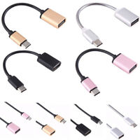 USB C 3.1 Type C Male To USB Female Metal OTG Sync Data Converter Adapter Cable
