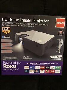 Brand New RCA RPJ133 720P HD Smart Home Theater Projector w/Roku Streaming Stick