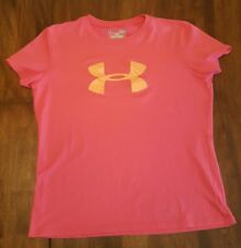 Under Armour Hot Pink Shirt Loose Heat Gear Size Youth Large Soccer Gymnastics