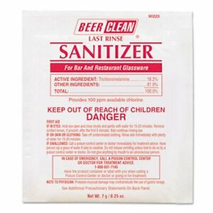 Beer Clean Last Rinse Glass Sanitizer Powder, 200 Packets DVO90223