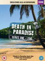 Death in Paradise: Series 1-5 DVD (2016) Ben Miller cert 12 14 discs ***NEW***