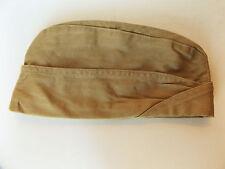 Vintage Garrison Hat Tan Dress Military Flat Envelope Cap Cover 6 7/8