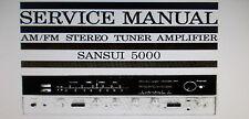 Sansui 5000 stéréo tuner service amp manuel inc blk diag imprimé bound anglais