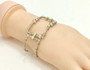 "Alexis Bittar Crystal Encrusted Oversize Link Cuff Bracelet, 7""/18cm RRP £170"