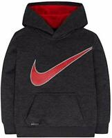 7L Black Nike Little Boys Long Sleeve Hooded Dri-Fit Tee Pullover 4XS 6M 5S