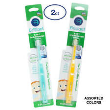Brilliant Baby Toothbrush by Baby Buddy, Ages 4-24 Months, Round Head, Bristles