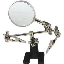 Helping hand magnifier glass third hand jewellery making air fix clamp soldering